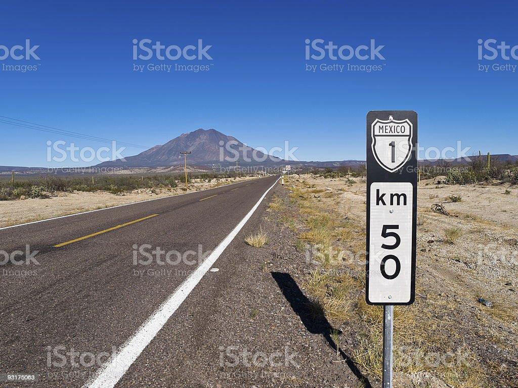 Hwy 1 Baja California Mexico stock photo