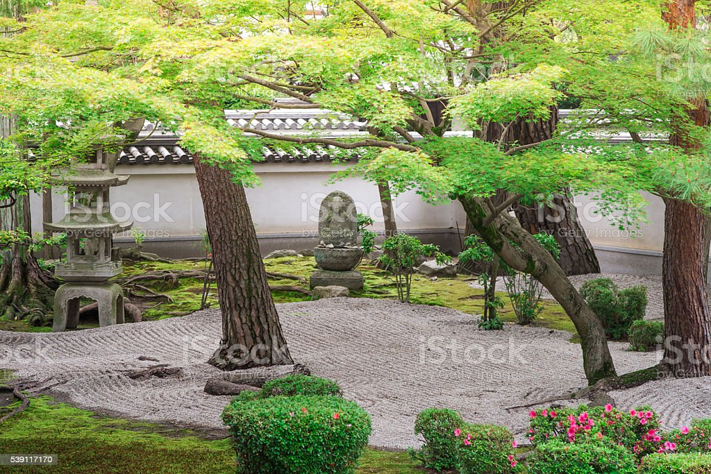 Hyakumanben Chion-ji Temple's Peaceful Garden, Kyoto, Japan stock photo