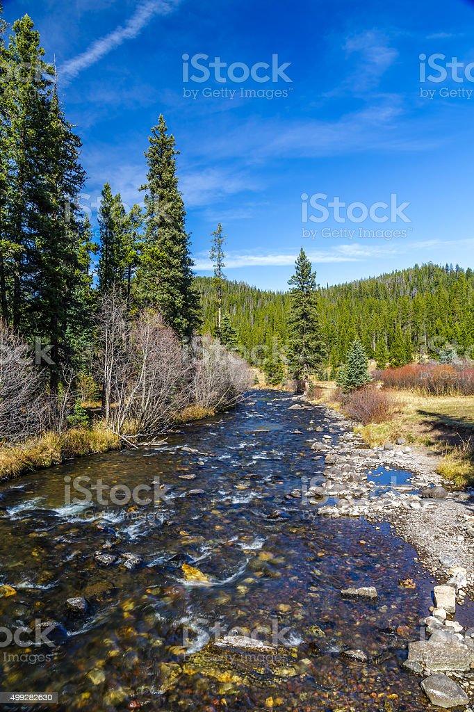 Hyalite Canyon Creek stock photo