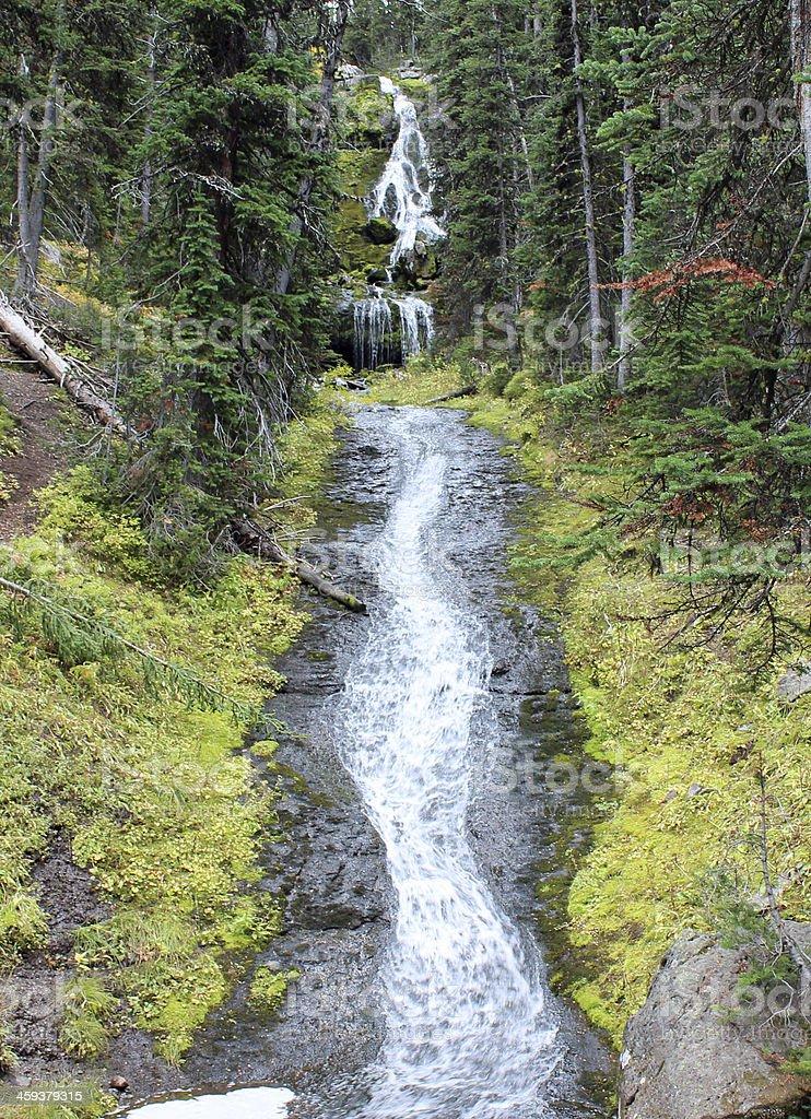 Hyalite Creek Falls stock photo