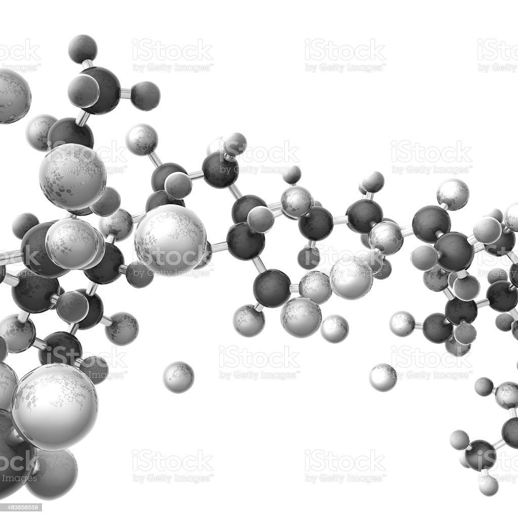 hyaluranic acid molecule stock photo