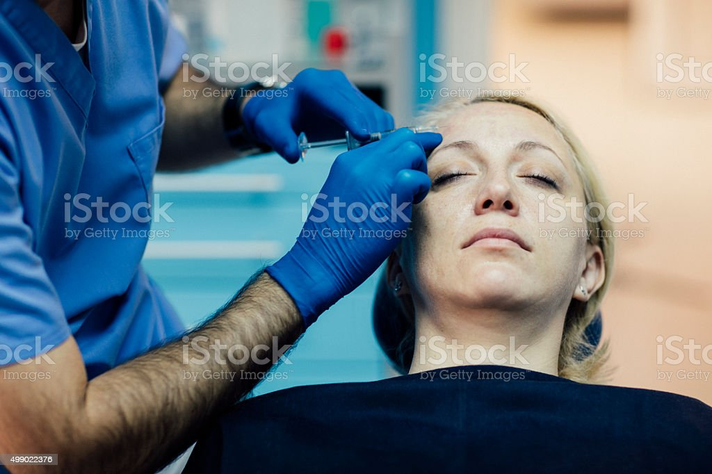 Hyaluron Anti-Ageing Treatment. stock photo