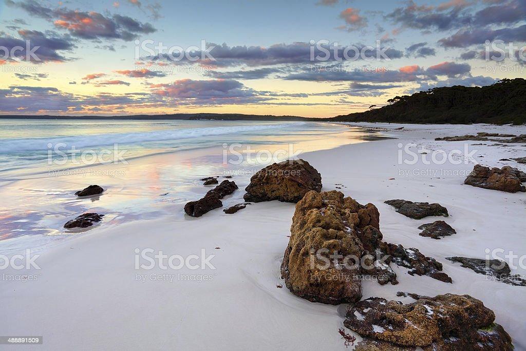 Hyams Beach Sunrise NSW Australia stock photo