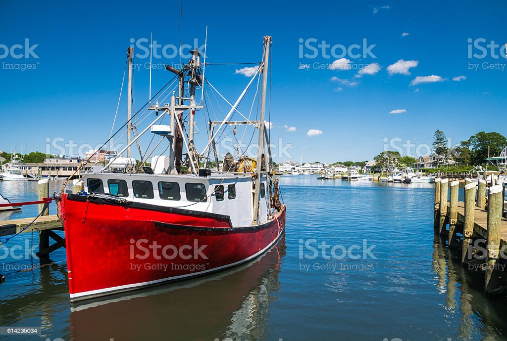 Hyannis Fishing Trawler stock photo