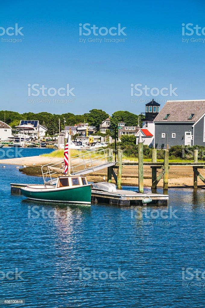 Hyannis Harbor Dock stock photo