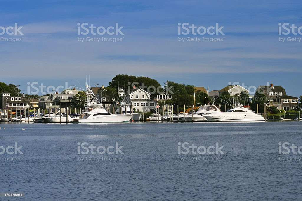 Hyannis Marina (Lewis Bay, Cape Cod) stock photo