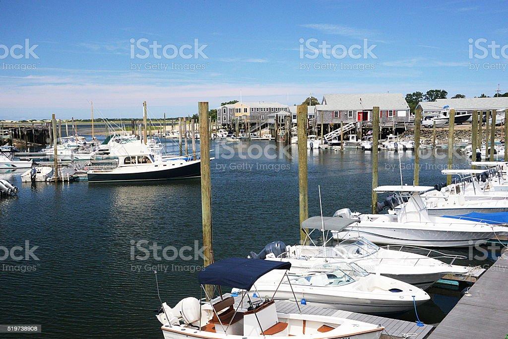 Hyannis - Massachusetts - Marina. stock photo