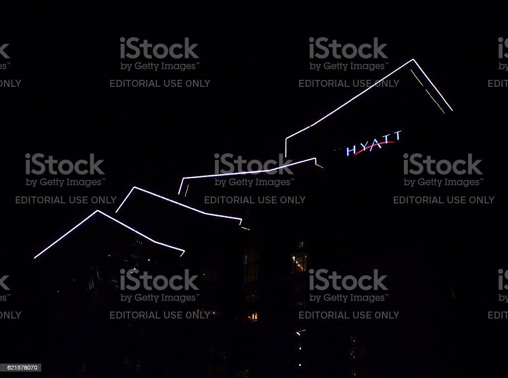 Hyatt hotel logo stock photo