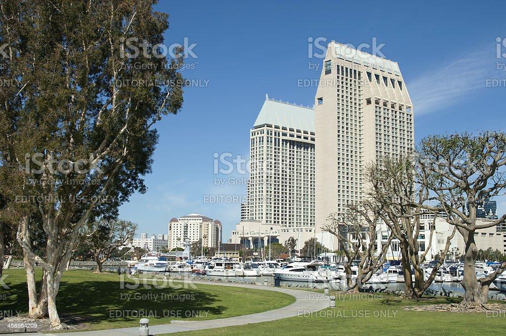 Hyatt Hotel Marina in San Diego stock photo