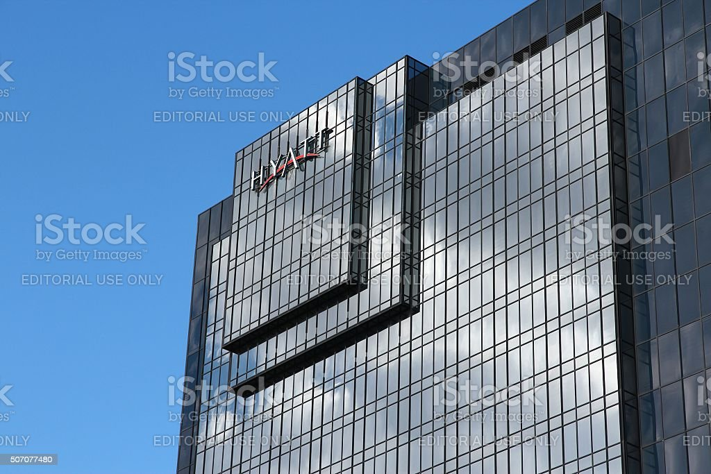 Hyatt Hotel stock photo