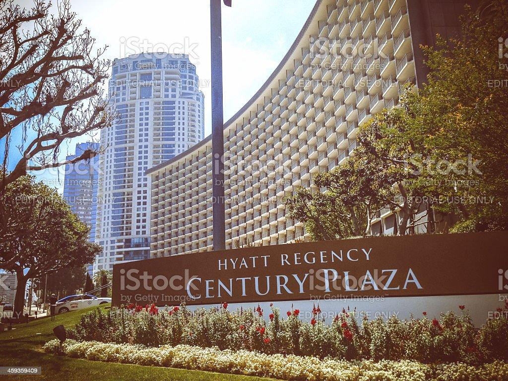 Hyatt Regency Century Plaza, Los Angeles stock photo