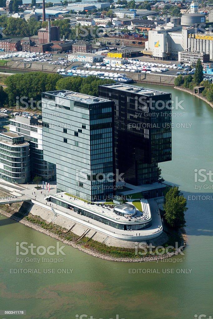 Hyatt Regency Düsseldorf stock photo