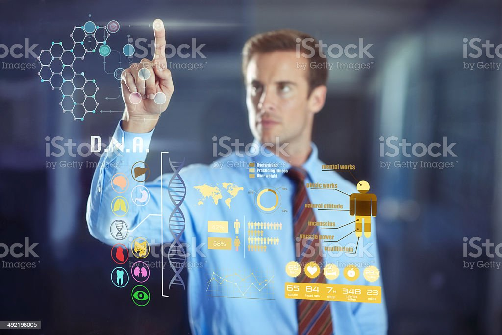 Hybrid business technology: Welcome to the future! stock photo