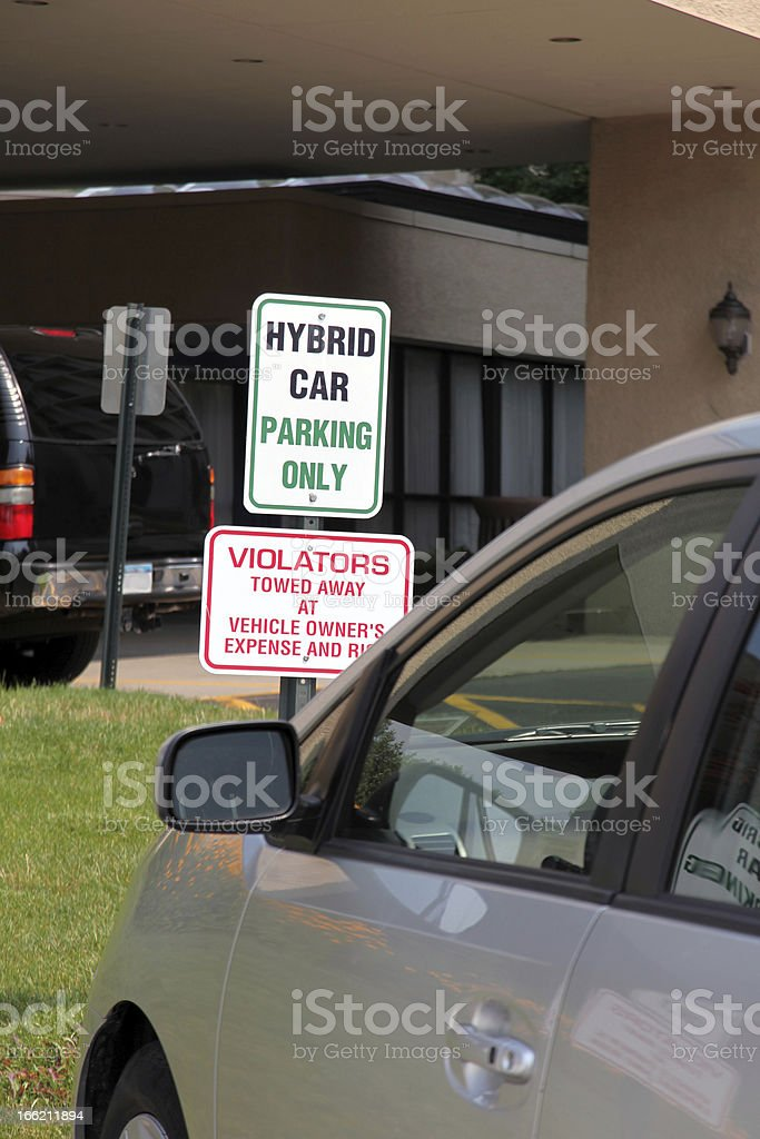 Hybrid Car Parking Only royalty-free stock photo