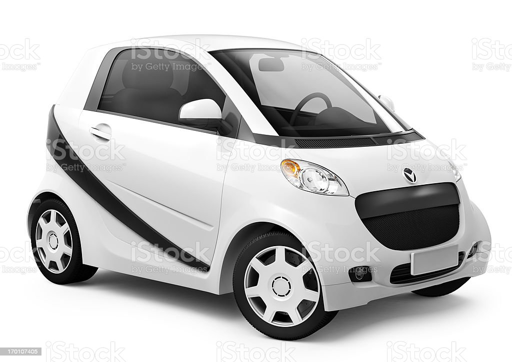 Hybrid car stock photo
