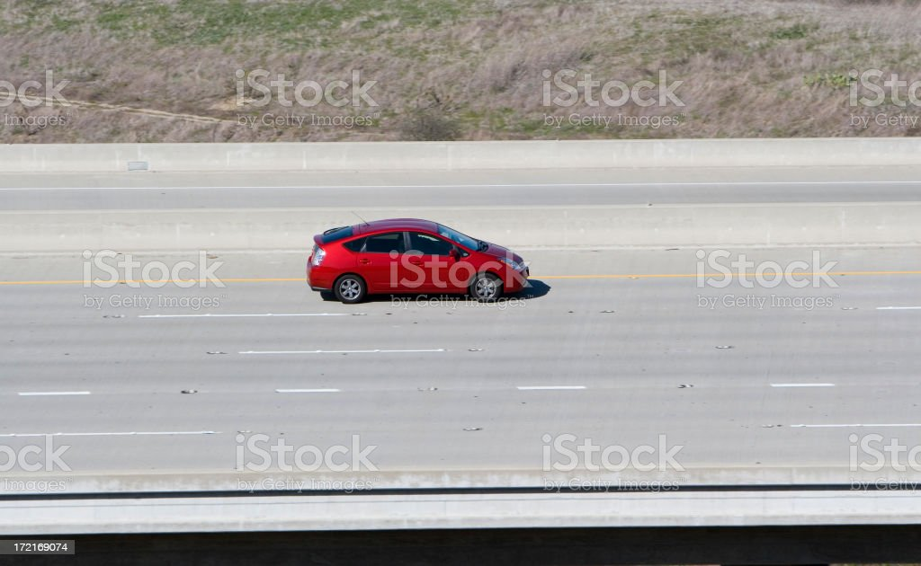 Hybrid Car (red) stock photo