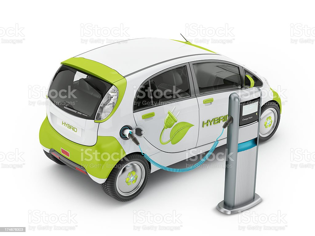 Hybrid car royalty-free stock photo