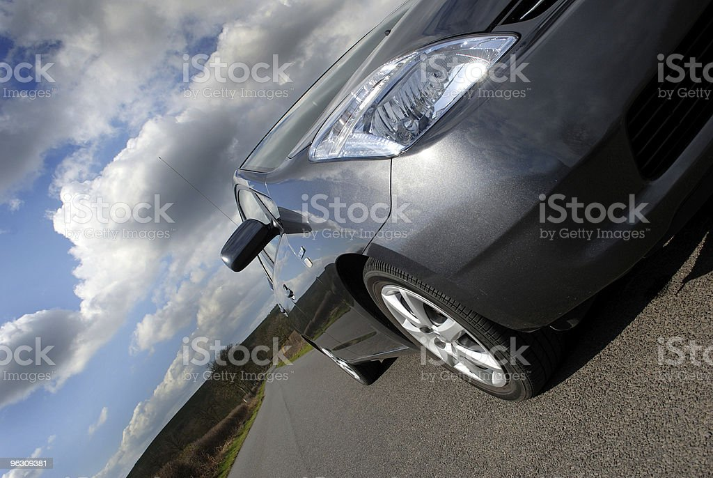 Hybrid electric car. royalty-free stock photo