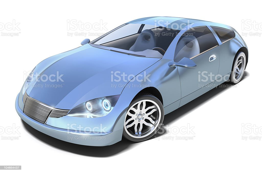 Hybrid sport car royalty-free stock photo