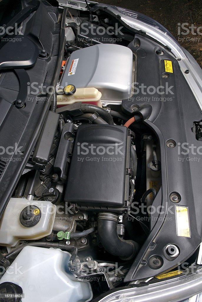 Hybrid Vehicle Engine royalty-free stock photo