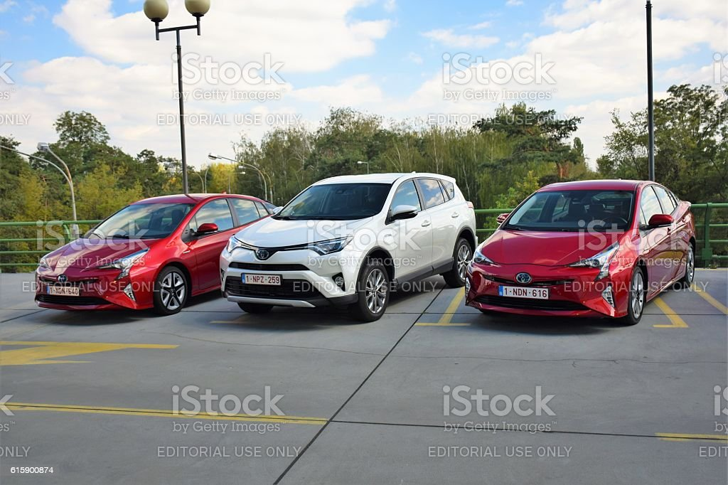 Hybrid vehicles from Toyota stock photo