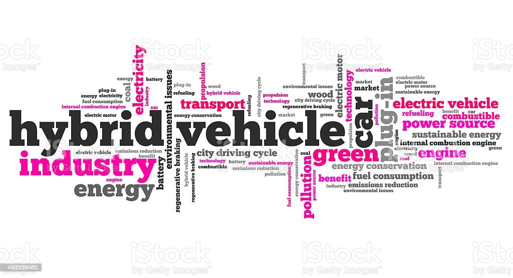 Hybrid vehicles stock photo
