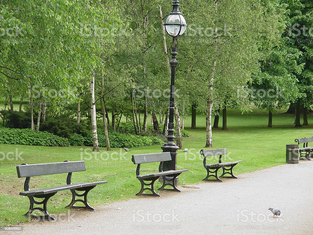 Hyde Park Benches royalty-free stock photo
