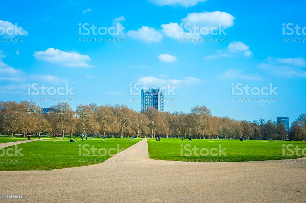 Hyde Park during a sunny day, London stock photo