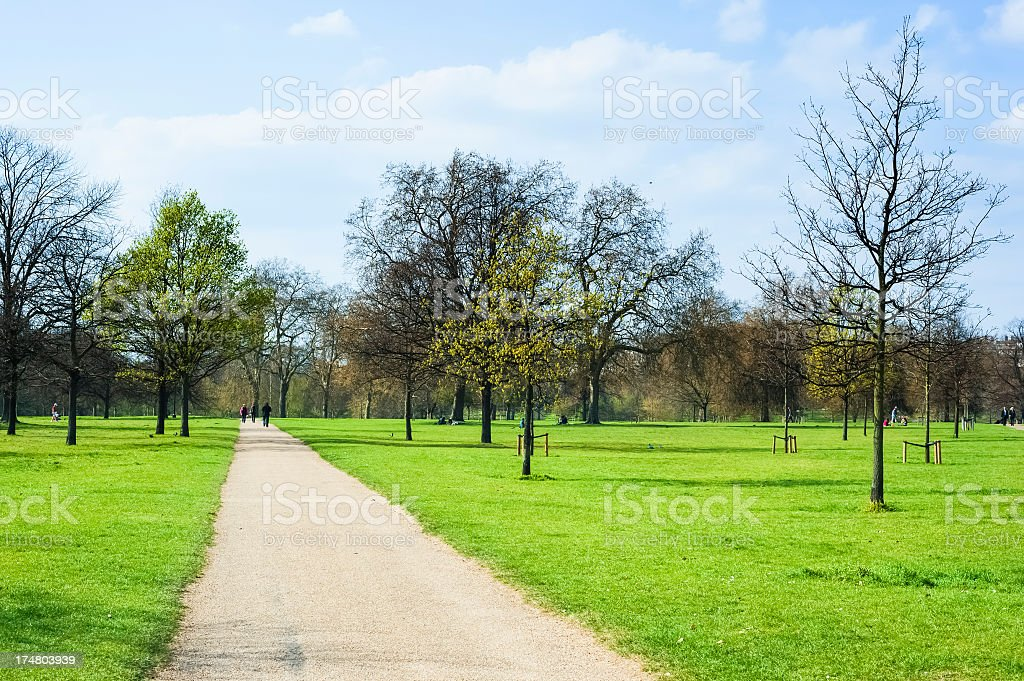 Hyde Park during spring, London royalty-free stock photo