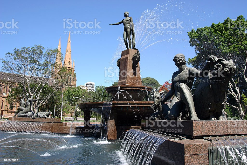 Hyde Park Fountain stock photo