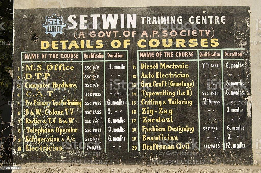 Hyderabad college courses stock photo
