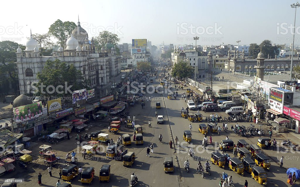 hyderabad in india stock photo