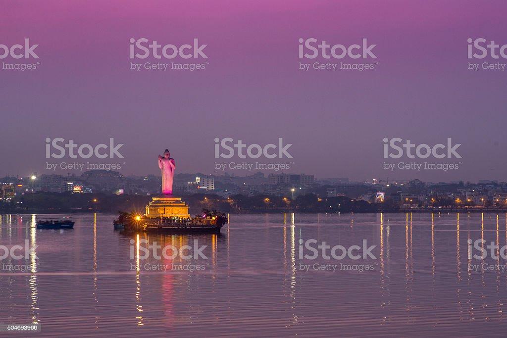Hyderabad_buddha stock photo