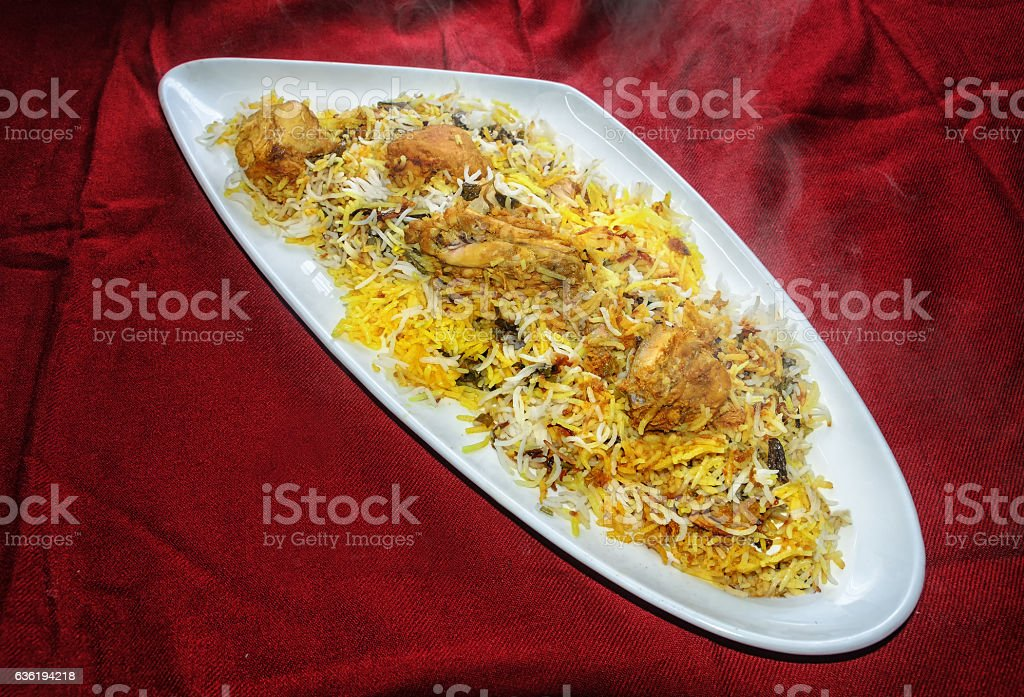 Hyderabadi Chicken Biryani stock photo