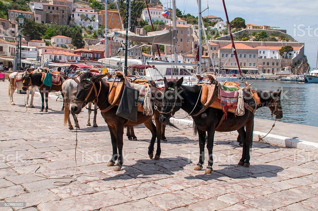 Hydra Island Greece stock photo