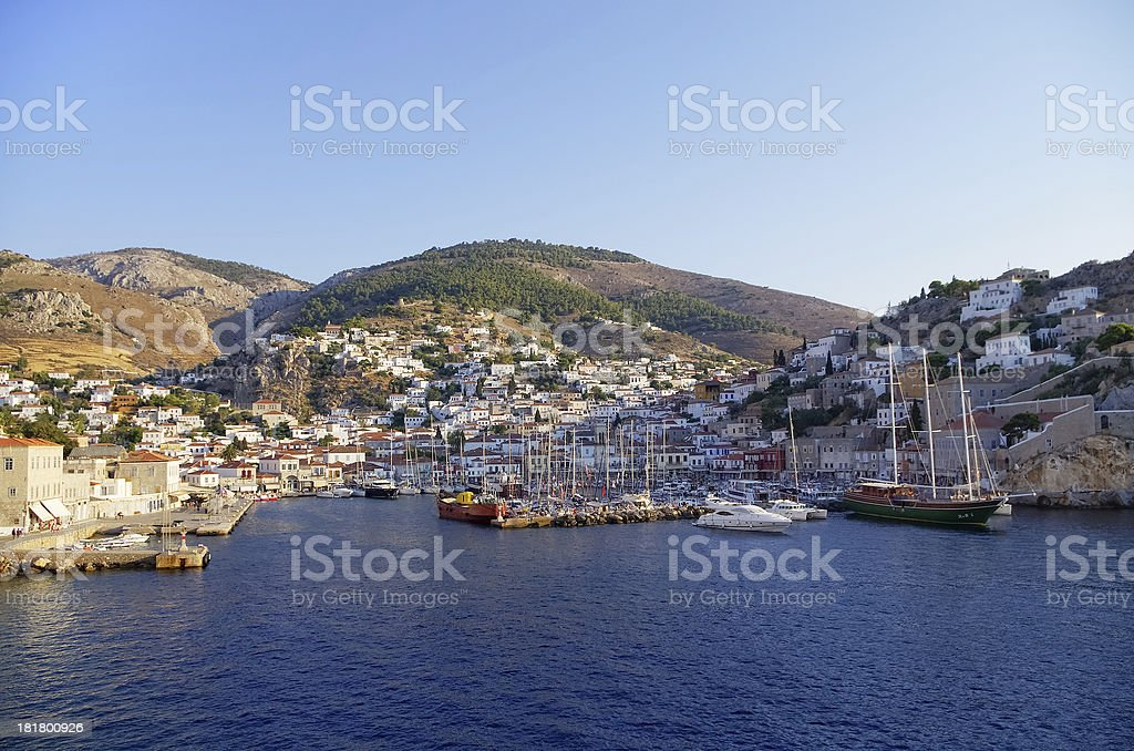Hydra island royalty-free stock photo