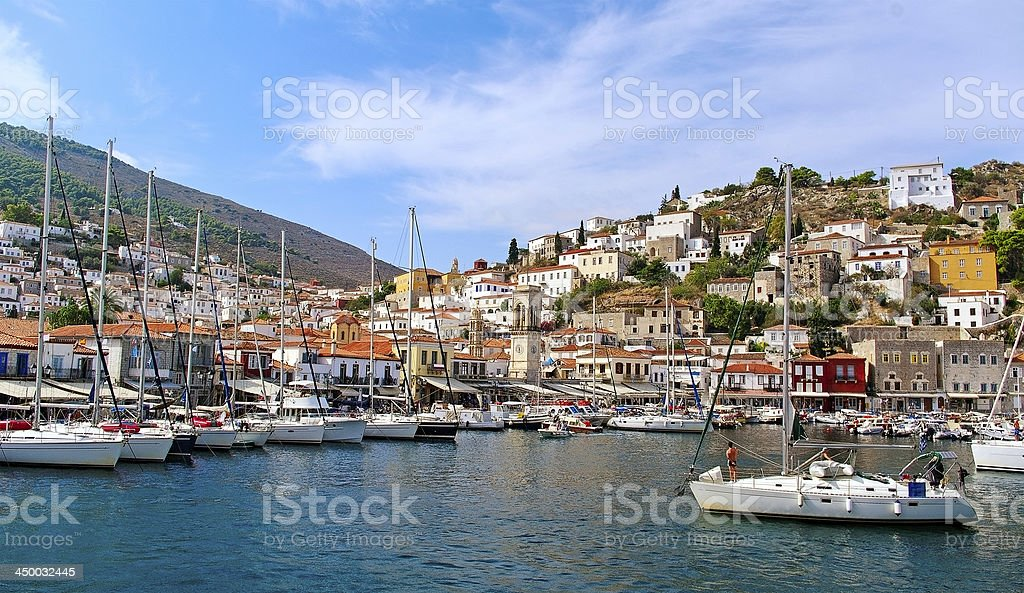 Hydra island. stock photo