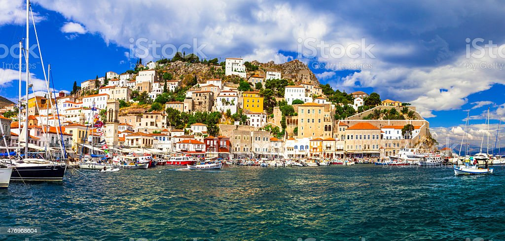 Hydra Island,Greece. stock photo