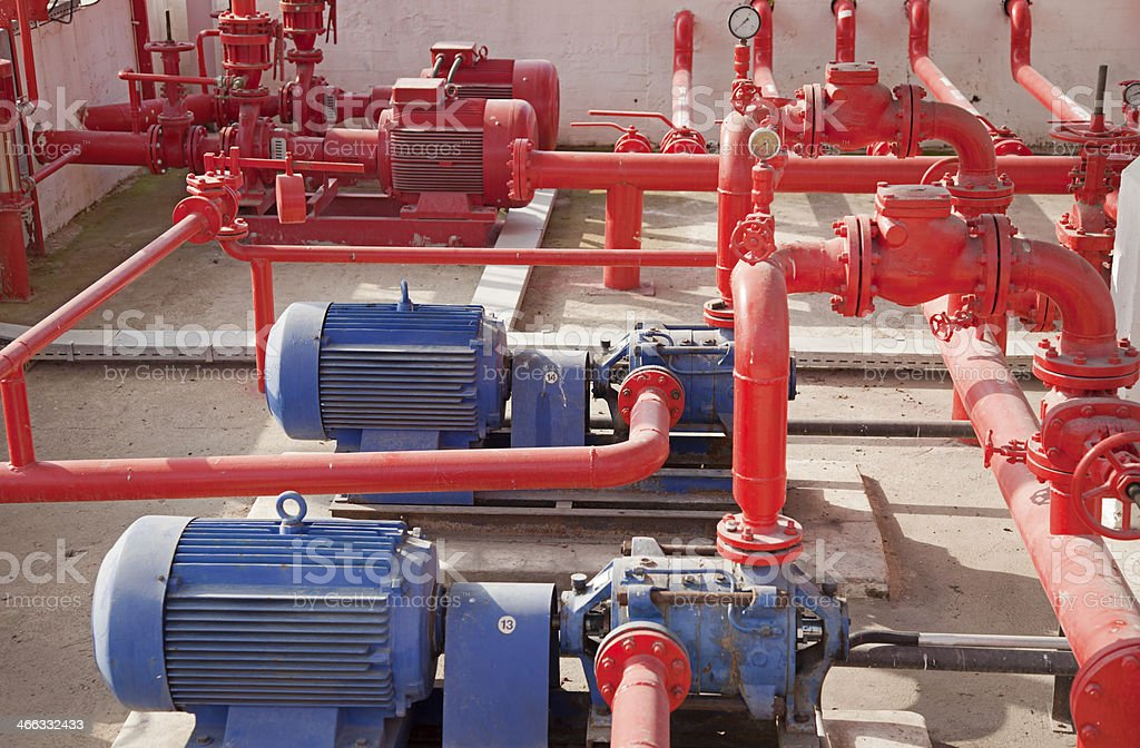 Hydrant fuel at jet pump station royalty-free stock photo