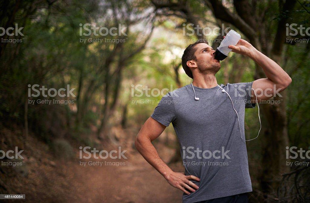 Hydrating stock photo
