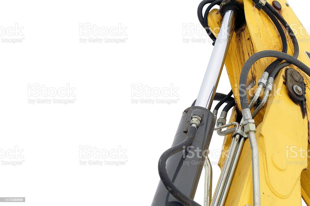 Hydraulic bulldozer machinery isolated on white background royalty-free stock photo