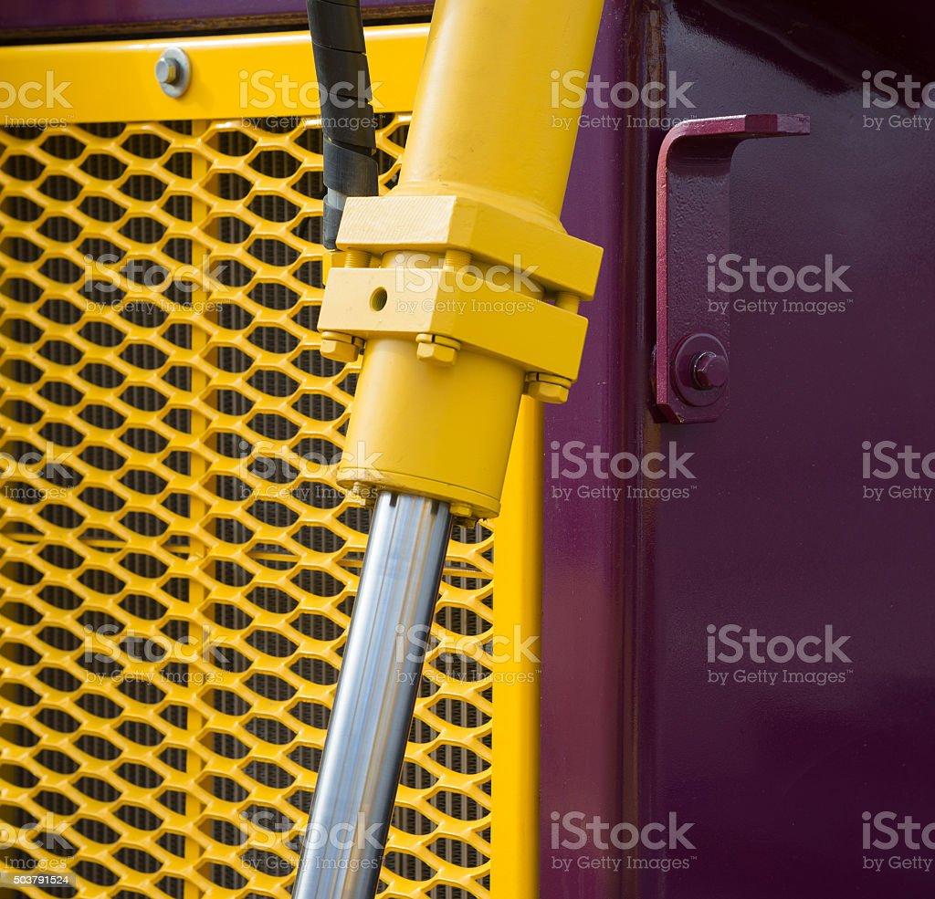 hydraulic bulldozer piston excavator arm stock photo