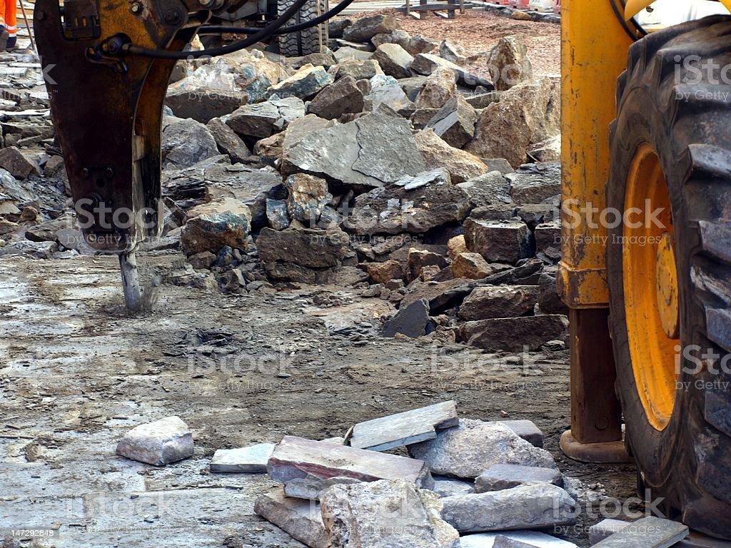 Hydraulic Concrete Breaker stock photo