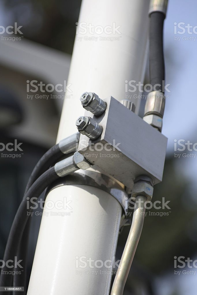 Hydraulic connection. royalty-free stock photo