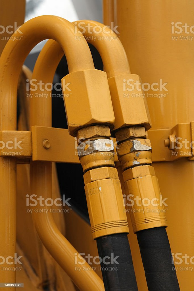 Hydraulic connections. royalty-free stock photo