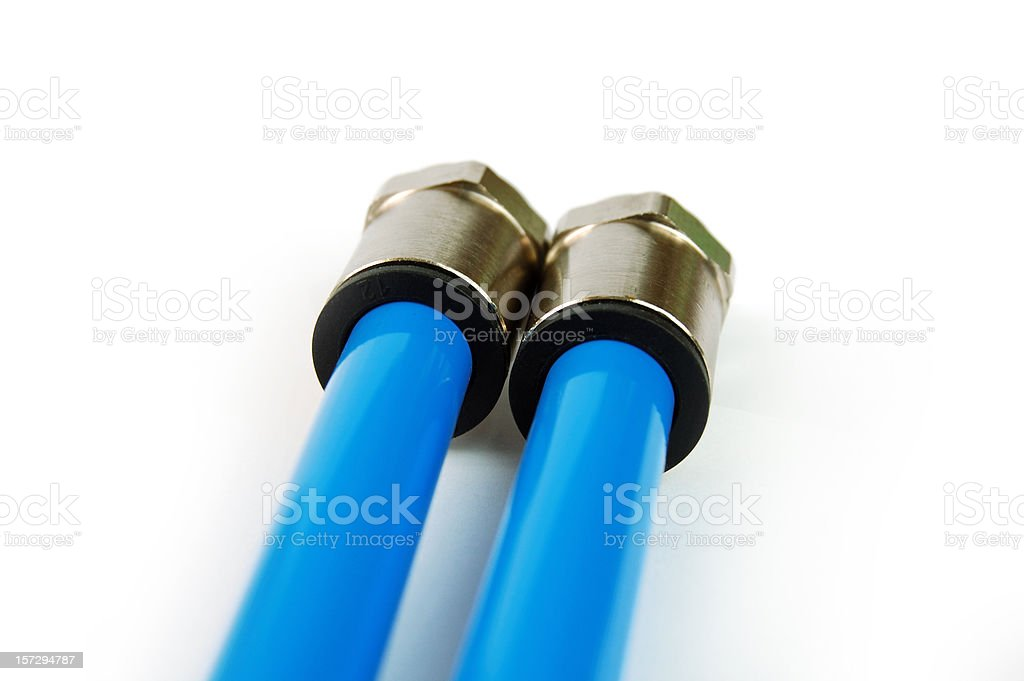 hydraulic connectors stock photo