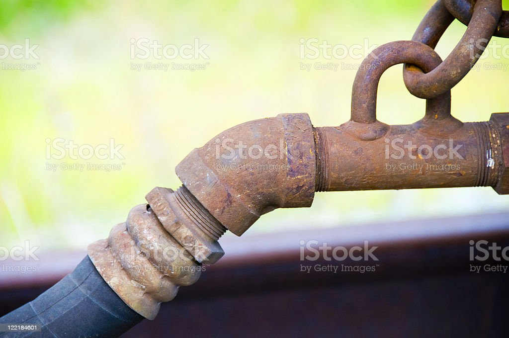 Hydraulic Coupler Close-up royalty-free stock photo