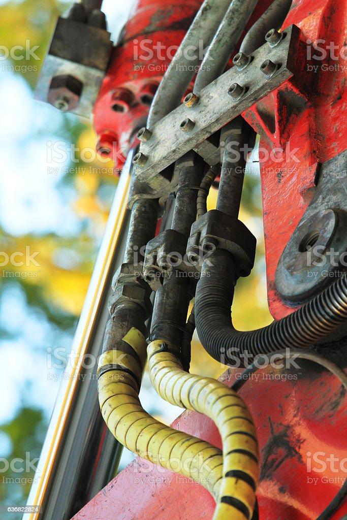 Hydraulic Coupling stock photo