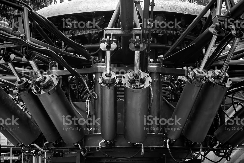 Hydraulic cylinder stock photo