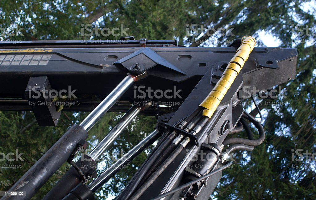 Hydraulic cylinders royalty-free stock photo